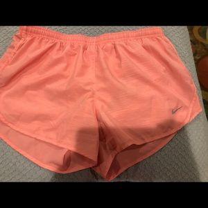 Peach athletic shorts